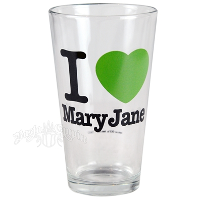 I Love Mary Jane Pint Glass