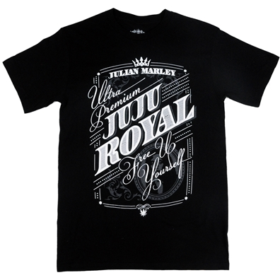 Julian Marley Juju Royal Free Up Yourself Black T-Shirt – Men's
