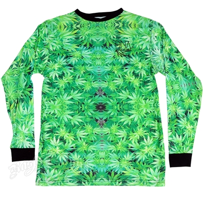 Marijuana Leaves Green Long Sleeve Shirt - Men's