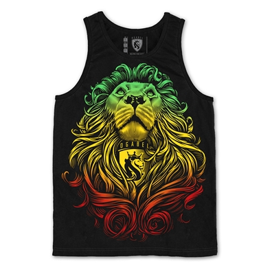 Rasta Cecil Lion Black Tank - Men's