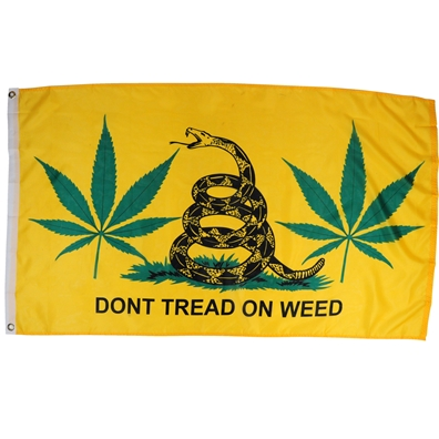 Don't Tread on Weed Flag