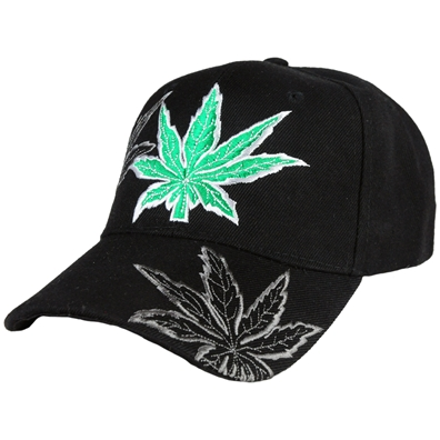 Embroidered Weed Leaf Cap