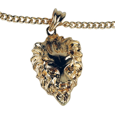 Lion Thick Curb Chain Necklace