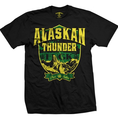Seven Leaf Alaskan Thunder F Strain Black T-Shirt – Men's