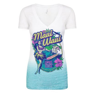 RastaEmpire Maui Waui Burnout Deep V Ombre Shirt – Women's