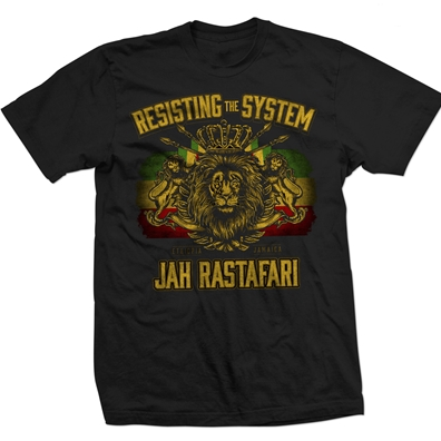 RastaEmpire Resisting The System Black T-Shirt – Men's