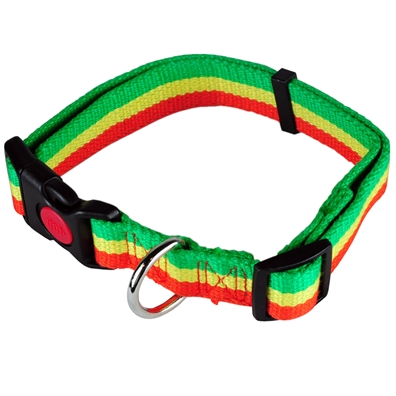 Bamboo Rasta Stripes Dog Collar