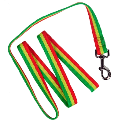 Bamboo Rasta Stripe Dog Leash