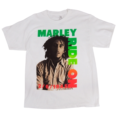 Bob Marley Bob Ride On Limited Edition White T-Shirt - Men's