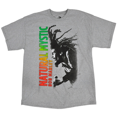 Bob Marley Bob Natural Mystic Heather Grey T-Shirt - Men's