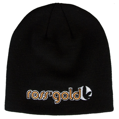 Ross' Gold Embroidered Skull Cap Beanie
