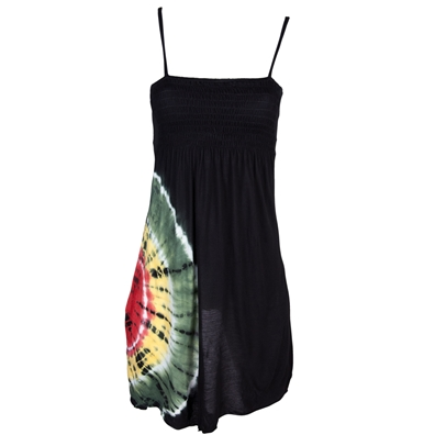 Rasta and Reggae Spaghetti Strap Tie Dye Dress