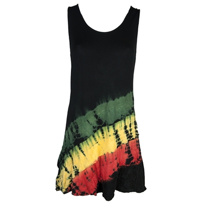 Rasta and Reggae Short Frill Tie Dye Dress