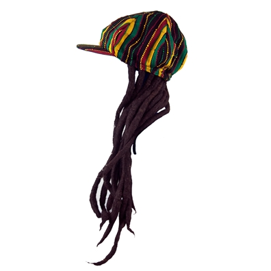 Adult Billed Fake Dreadlocks Headwear