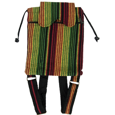 Rasta Striped Cinch Backpack