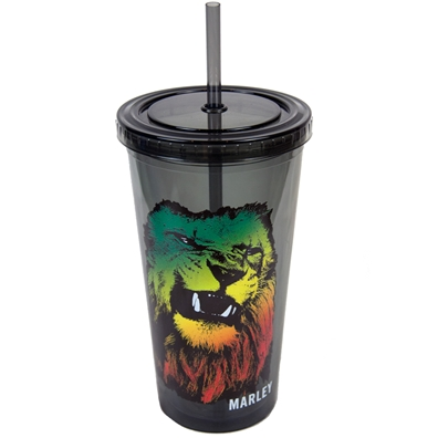 Marley Rasta Lion Travel Tumbler