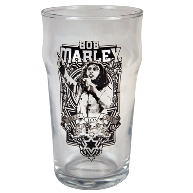 Bob Marley Iron Lion Zion Pint Glass