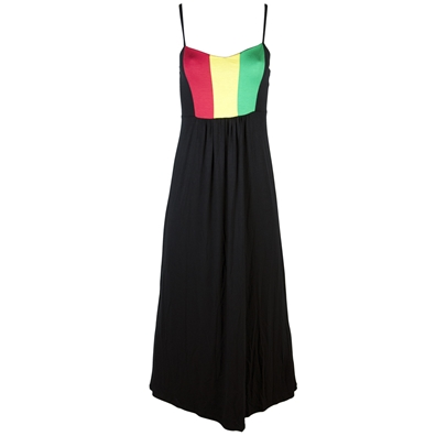 Rasta and Reggae Long Spaghetti Strapped Dress