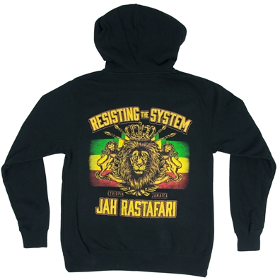 Resisting The System Black Zip Hoodie