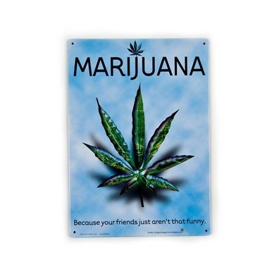 Marijuana Funny Friends Metal Sign
