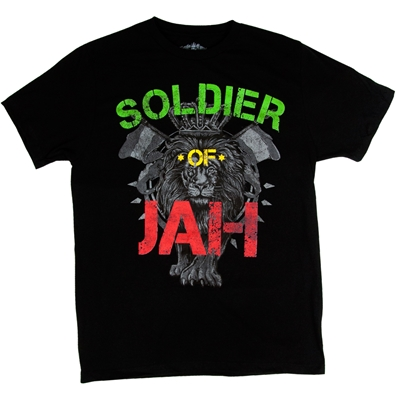 RastaEmpire Soldier Of Jah Black T-Shirt - Men's
