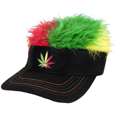Rasta Flair Hair Visor Cap