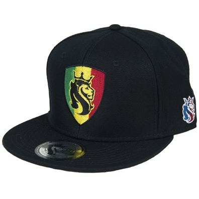 Rasta Lion Shield Snapback