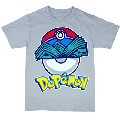 Dopemon Grey T-Shirt - Men's
