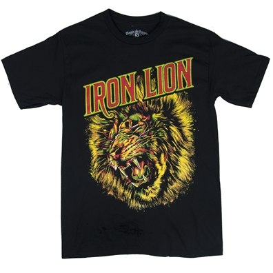 RastaEmpire Iron Lion Black T-Shirt – Men's