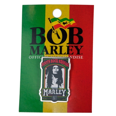 Bob Marley Roots Rock Reggae Pin