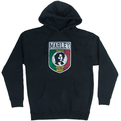 Bob Marley Kingston Jamaica Shield Black Hoodie – Men's