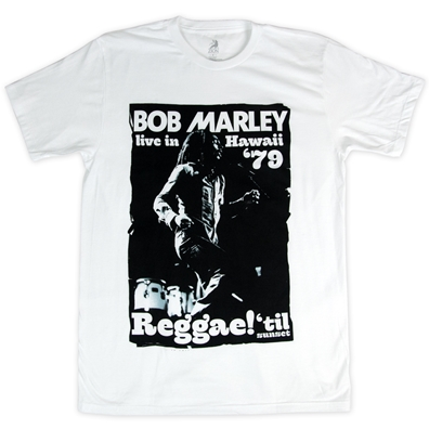 Bob Marley Live In Hawaii White T-Shirt – Men's
