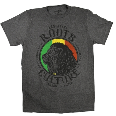 RastaEmpire Profile Lion Roots & Culture Gray T-Shirt – Men's