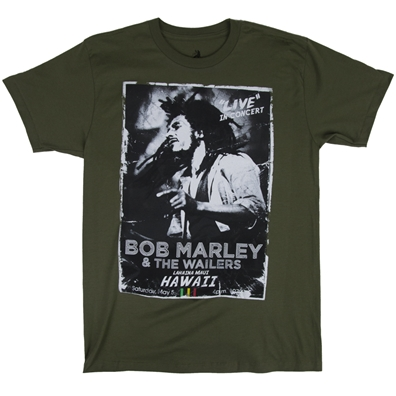 Bob Marley Hawaii Concert Olive T-Shirt – Men's