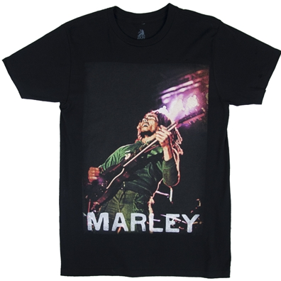 Bob Marley Concert Lights Black T-Shirt – Men's