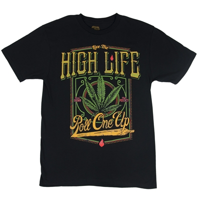 Seven Leaf High Life Black T-Shirt – Men's