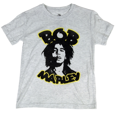 Bob Marley Retro Gray T-Shirt – Youth