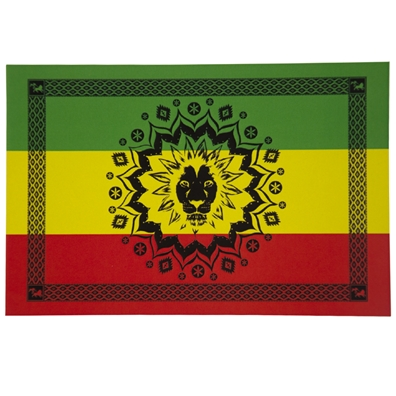 Rasta Lion Star Tapestry