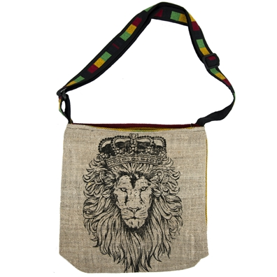 Rasta Lion Hemp Shoulder Bag