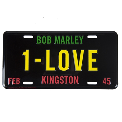 Bob Marley 1-Love License Plate