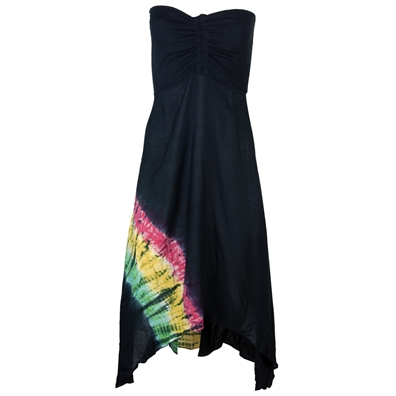 Rasta & Reggae Tube Top High/Low Dress – Women's