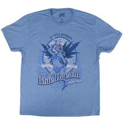 Seven Leaf Blue Dream Strain Light Blue T-Shirt – Men's