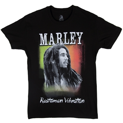 Bob Marley Rastaman Vibrations Black T-Shirt - Men's