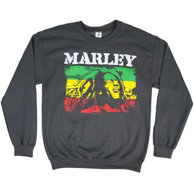 Bob Marley Rasta Stripe Crew Neck Fleece - Men's