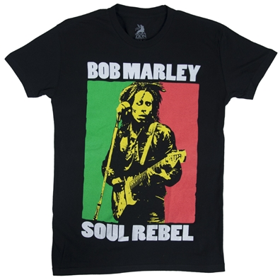 Bob Marley Soul Rebel Black T-Shirt - Men's
