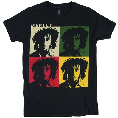 Bob Marley Faces Black T-Shirt – Men's