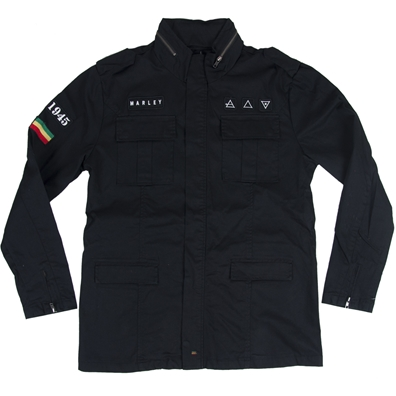 Marley Black Military Jacket - Men's