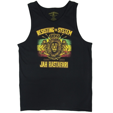 RastaEmpire Resisting The System Black Tank Top - Men's