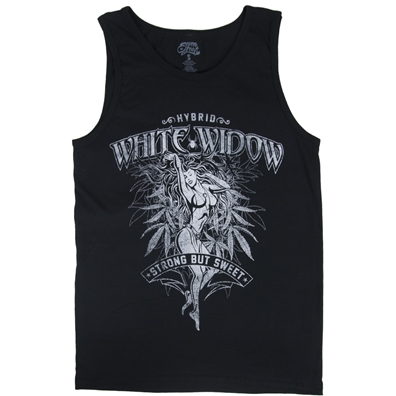 Seven Leaf White Widow Strain Black Tank Top - Men's