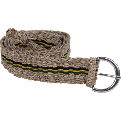 Jamaican Stripe Hemp Belt